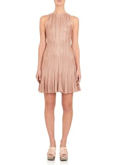 Alexander McQueen Metallic Knit Dress