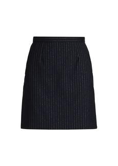 Alexander McQueen Metallic Pinstripe Mini Skirt