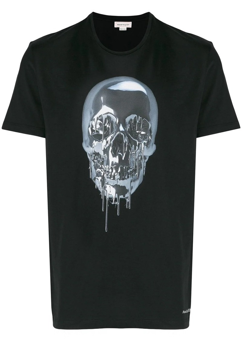 Alexander McQueen metallic skull print T-shirt