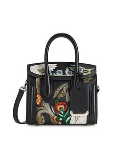 Alexander McQueen Mini Heroine 21 Embroidered Leather Satchel