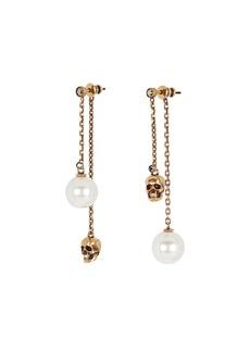 Alexander McQueen Mismatch Skull & Faux Pearl Earrings