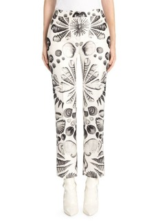 Alexander McQueen Monochrome Wool Shell Trousers