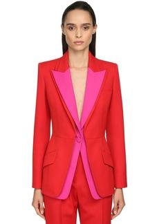 Alexander McQueen Multi-colored Grain De Poudre Jacket