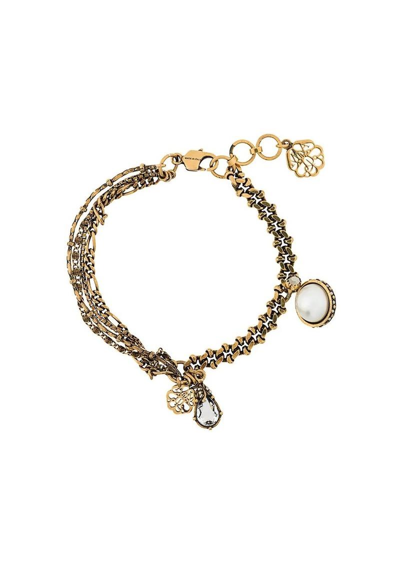Alexander McQueen multiple chains charms bracelet