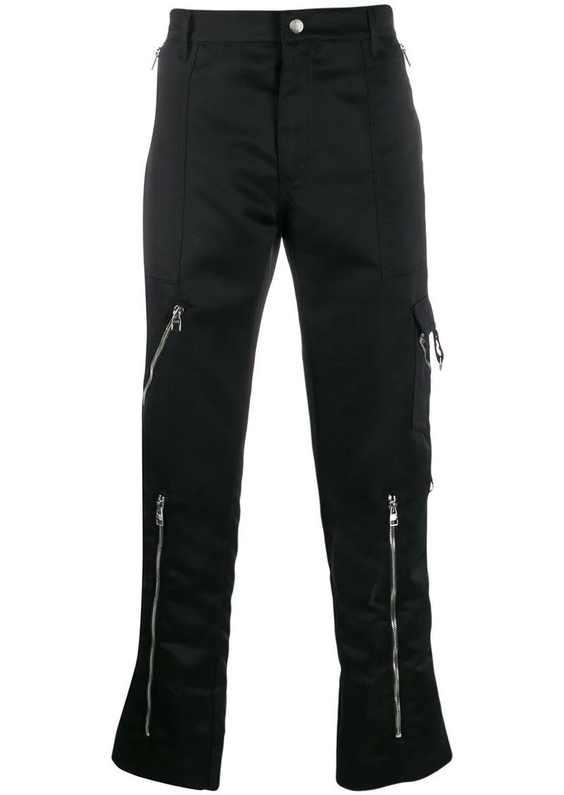 Alexander McQueen multiple zips trousers