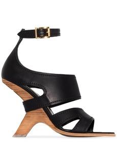 Alexander McQueen No.13 105 wedge leather sandals