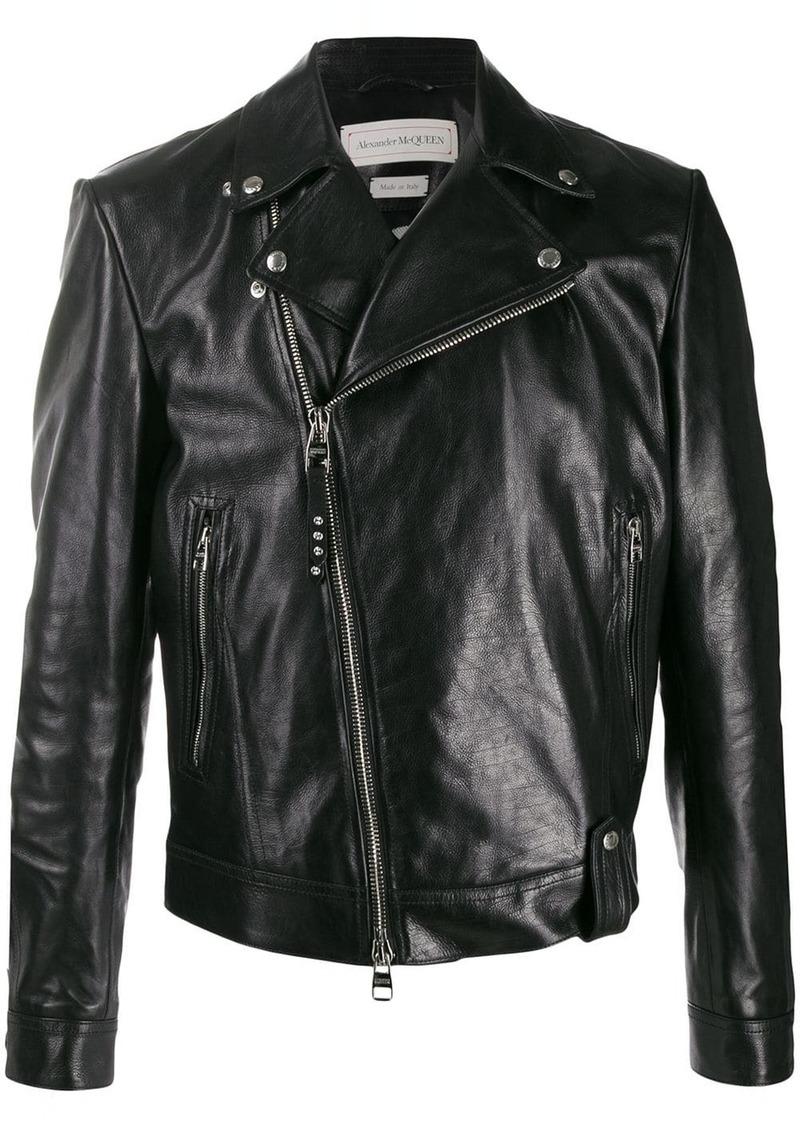 Alexander McQueen off-centre zipped jacket