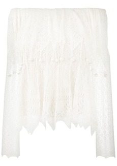 Alexander McQueen off-shoulder lace top