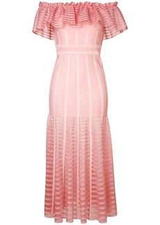 Alexander McQueen off-shoulder long dress