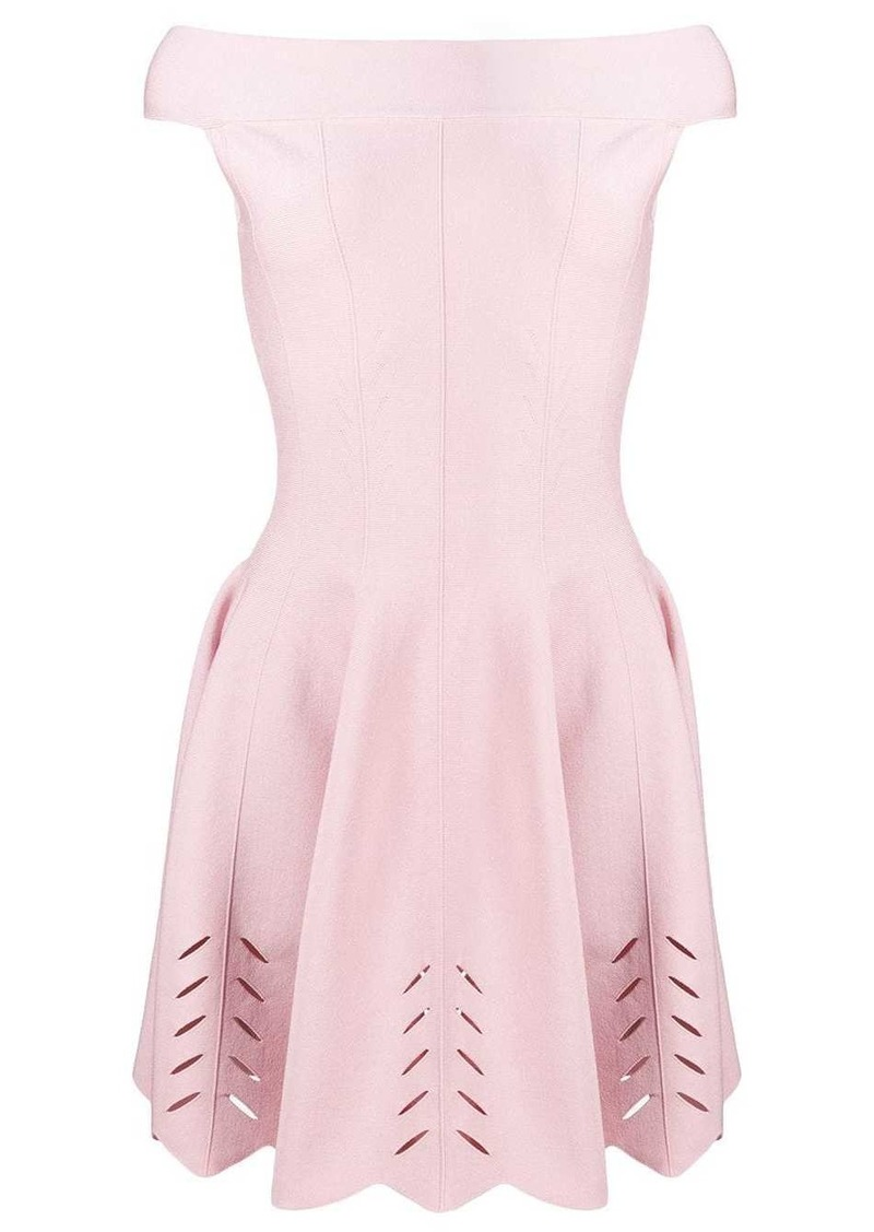 Alexander McQueen off the shoulder pleated dress