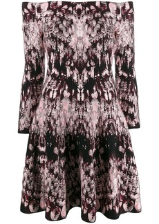 Alexander McQueen off-shoulder printed dress