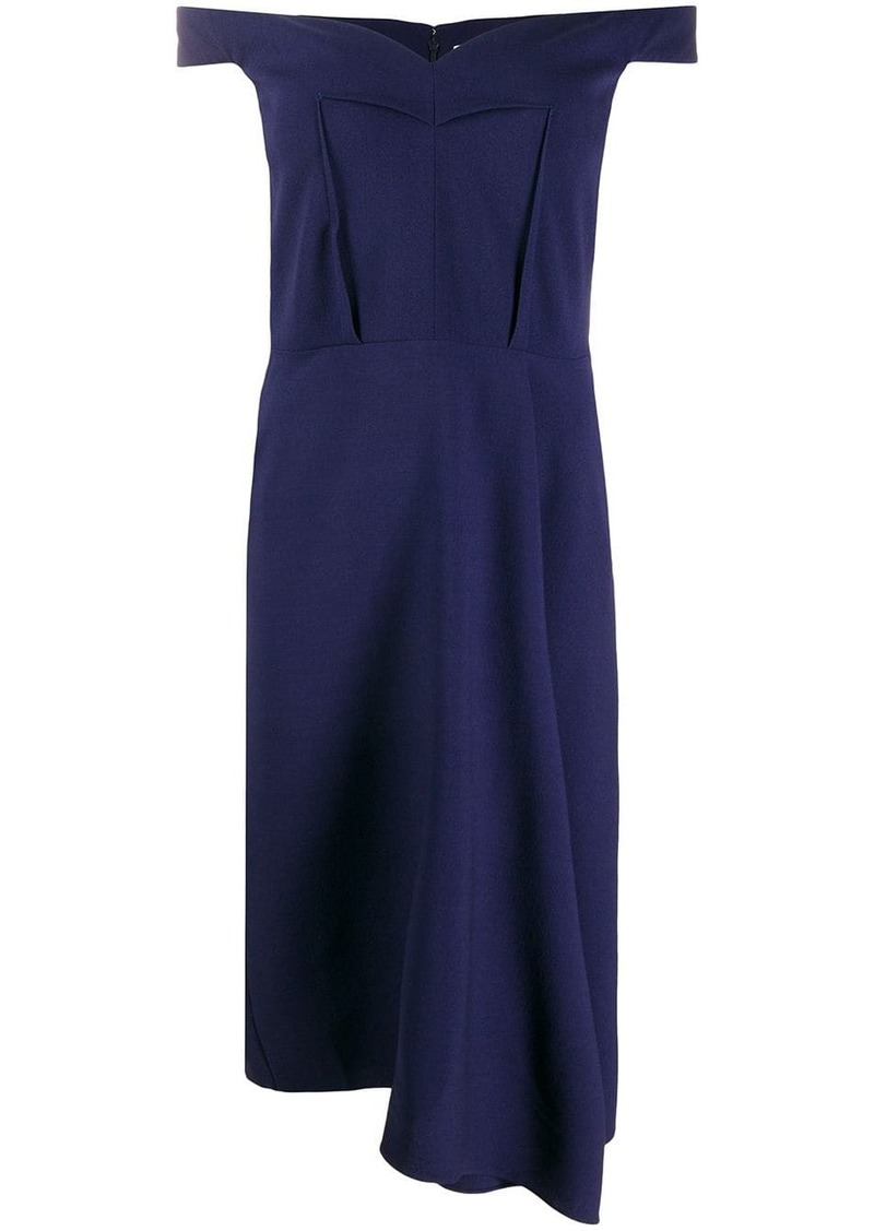 Alexander McQueen off-the-shoulder draped dress