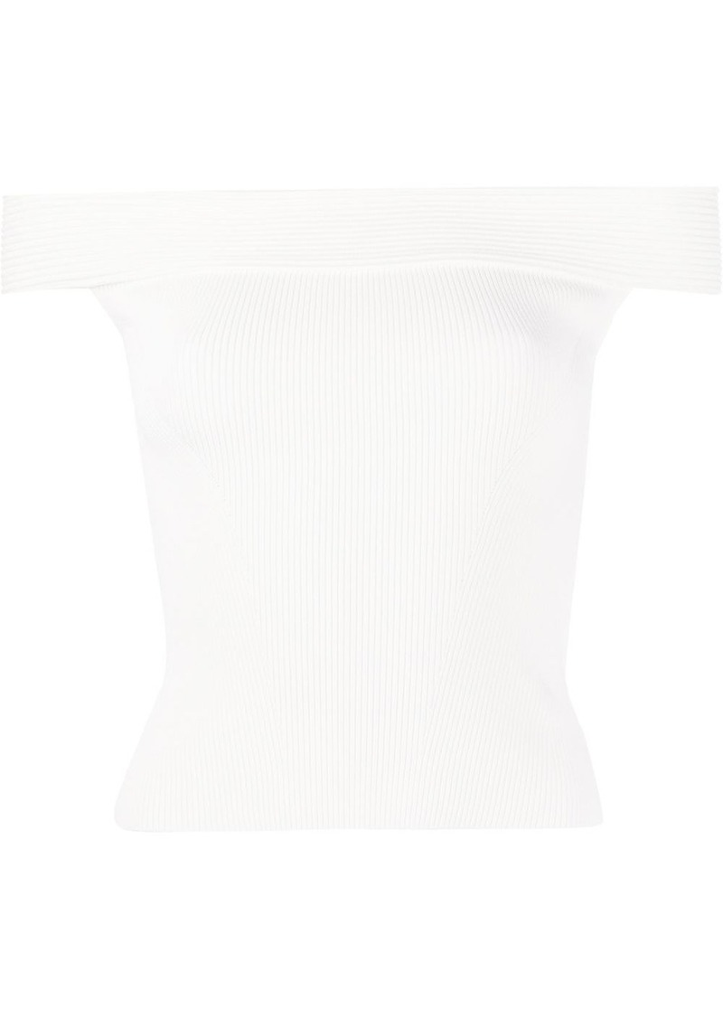 Alexander McQueen off-the-shoulder top