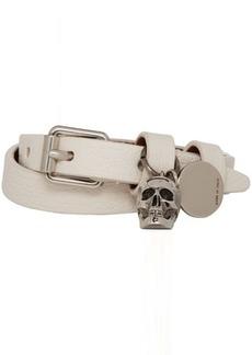 Alexander McQueen Off-White Double Wrap Skull Bracelet