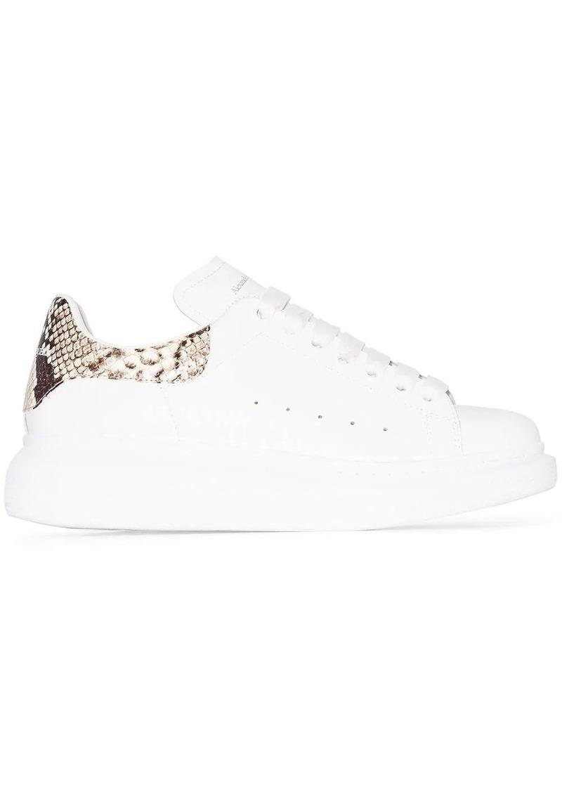 Alexander McQueen Oversized contrast heel counter sneakers