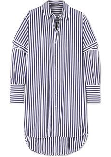 Alexander McQueen Oversized Cutout Striped Cotton-poplin Shirt