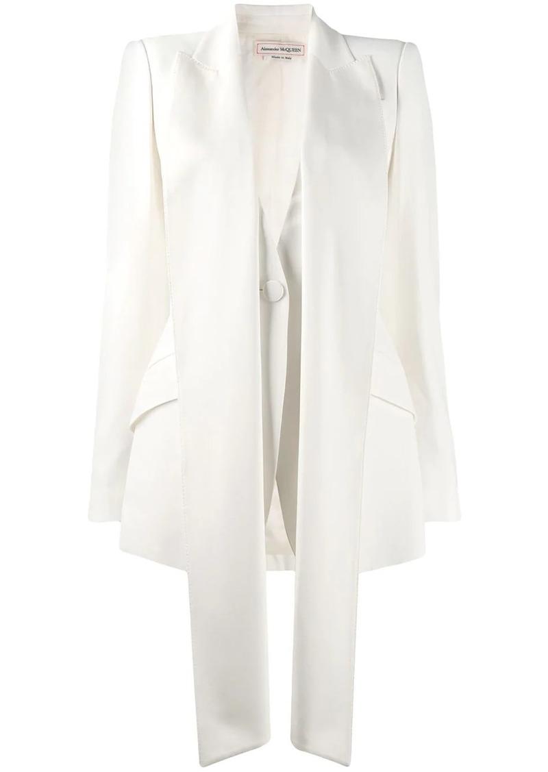 Alexander McQueen oversized lapel blazer