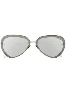 Alexander McQueen oversized metallic sunglasses
