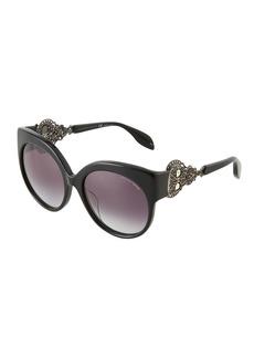 Alexander McQueen Oversized Round Acetate Sunglasses