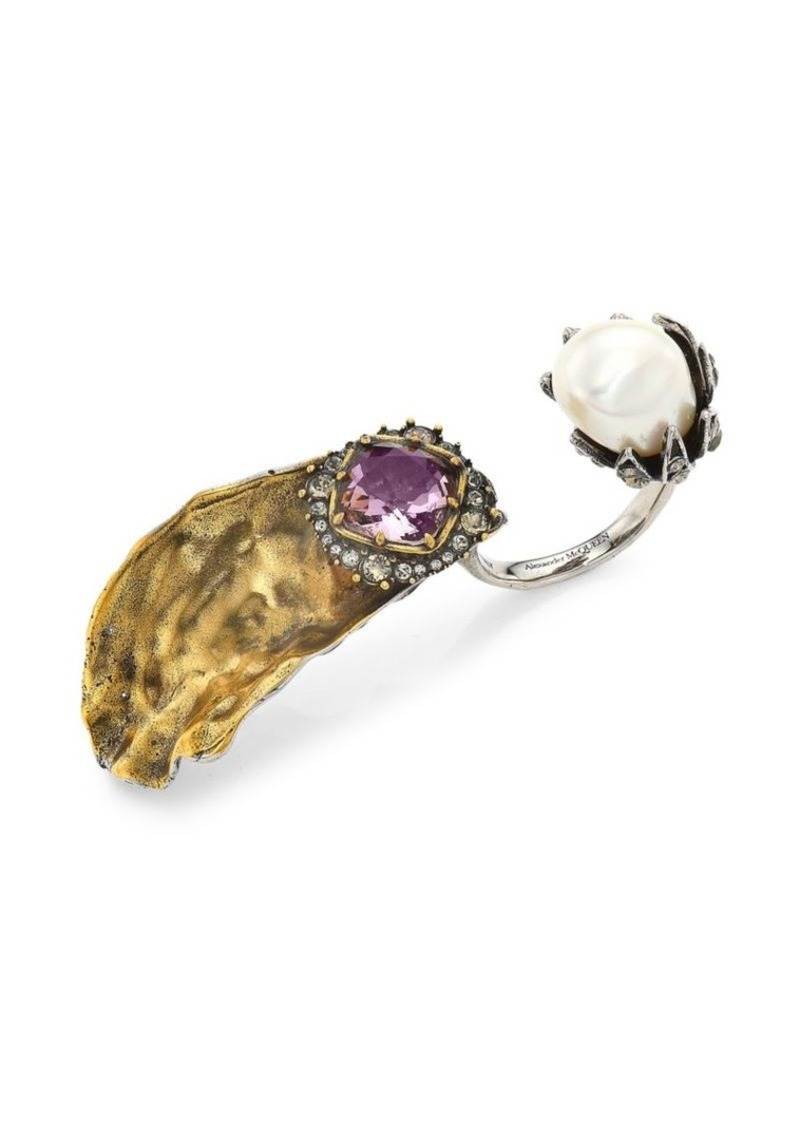 Alexander McQueen Oyster Double Ring