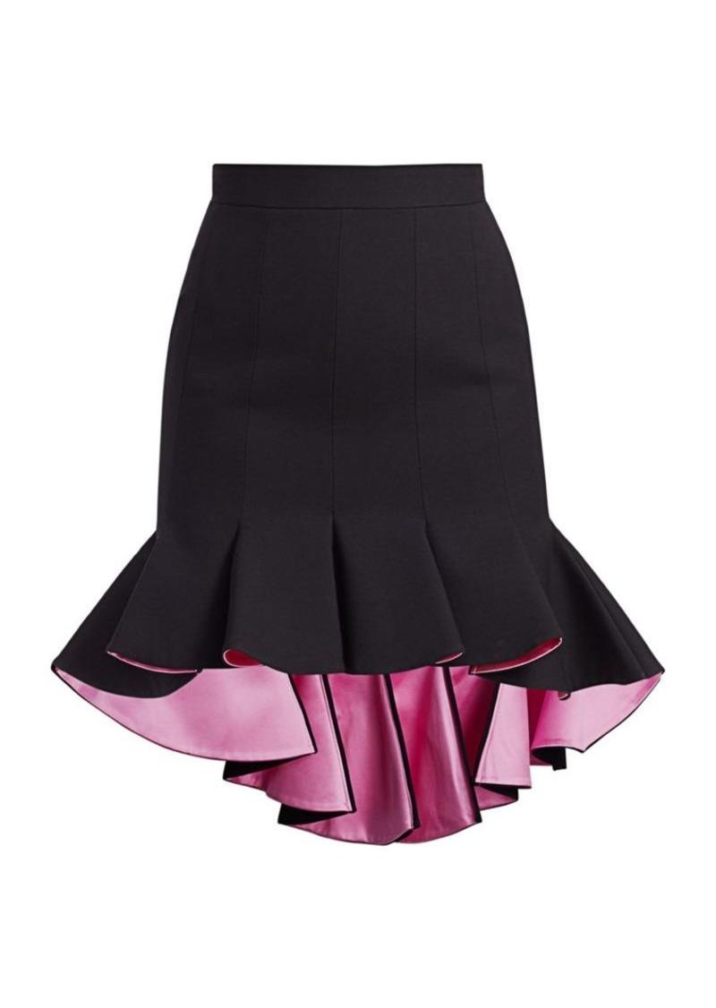 Alexander McQueen Panelled High-Low Ruffle Skirt
