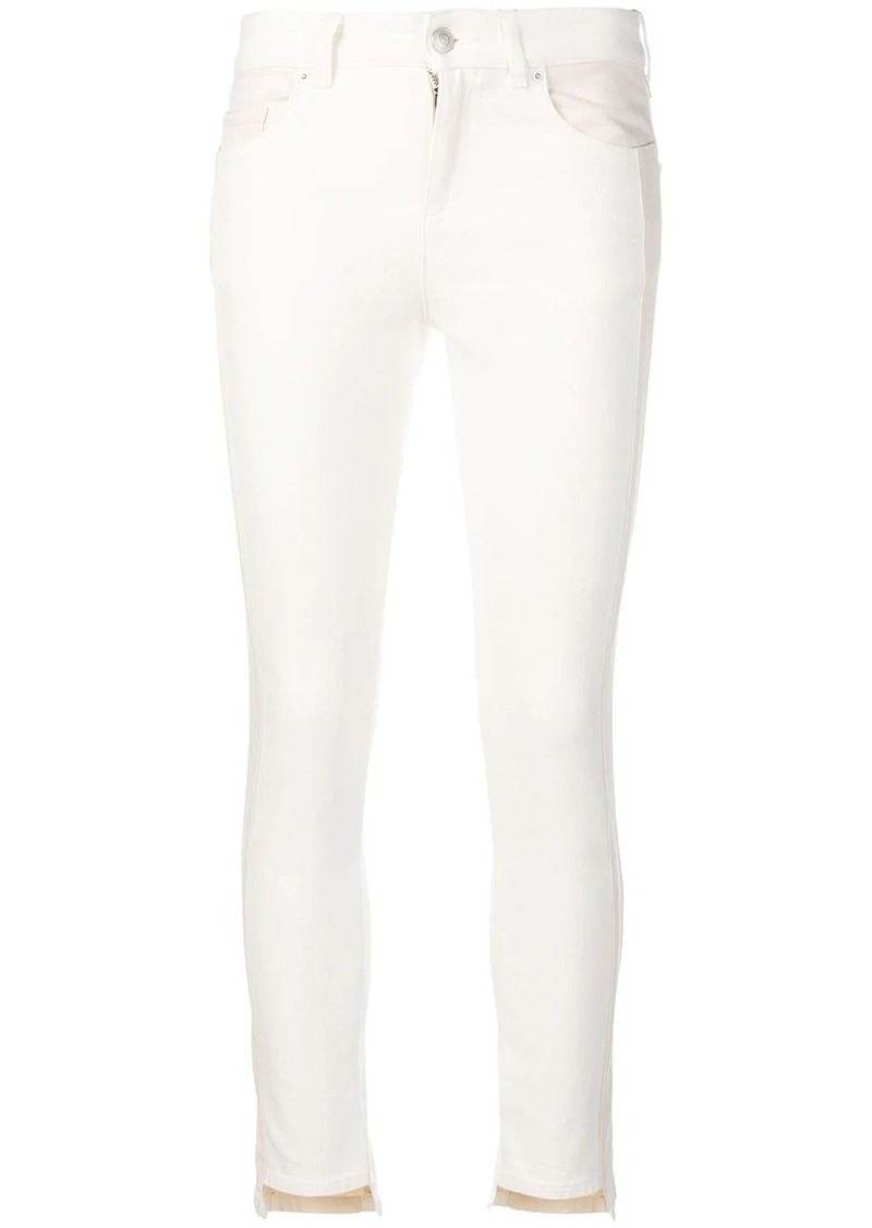 Alexander McQueen panelled skinny jeans