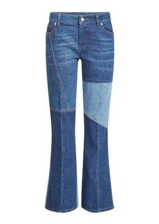 Alexander McQueen Patchwork Flare Jeans