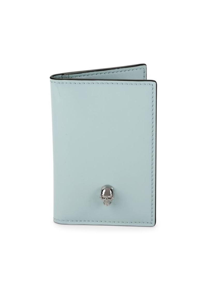 Alexander McQueen Patent Leather Bifold Pocket Organizer