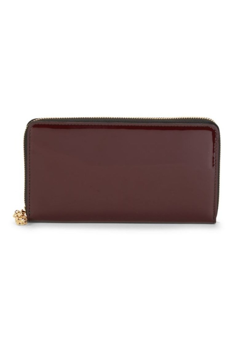 Alexander McQueen Patent Leather Continental Wallet