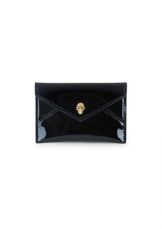 Alexander McQueen Patent Leather Envelope Cardholder Clutch