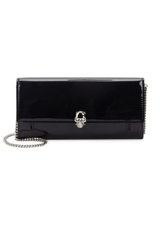 Alexander McQueen Patent Leather Wallet-On-A-Chain