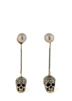 Alexander McQueen Pave Skull Earrings