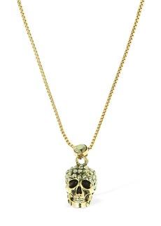 Alexander McQueen Pave Skull Necklace