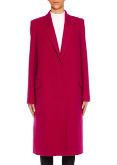 Alexander McQueen Peak-Lapels Single-Breasted Wool-Cashmere Classic Coat
