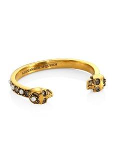 Alexander McQueen Pearl & Clear Crystal Bracelet