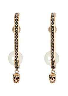Alexander McQueen Pearly Skull Drop Earrings