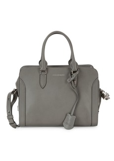 Alexander McQueen Pebbled Leather Boxed Satchel