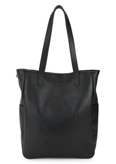 Alexander McQueen Perforated Skull Leather Shopper