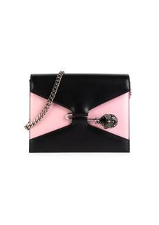 Alexander McQueen Pin Leather Crossbody Bag