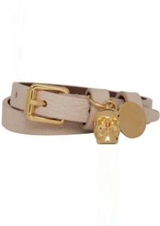Alexander McQueen Pink Double Wrap Skull Bracelet