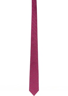 Alexander McQueen Pink Prince Of Wales Tie