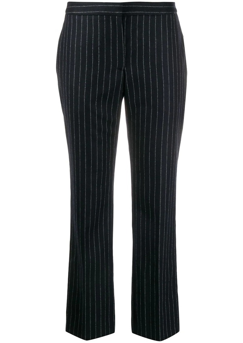 Alexander McQueen pinstripe cropped trousers