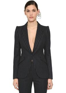 Alexander McQueen Pinstripe Wool Blazer