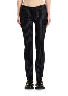 Alexander McQueen Pinstriped Flannel Boy-Cut Cigarette Pants