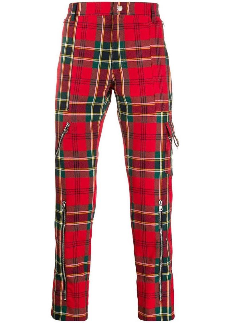 Alexander McQueen plaid straight-leg trousers