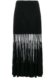 Alexander McQueen pleated-fringe skirt