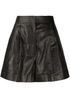 Alexander McQueen pleated high-waist shorts