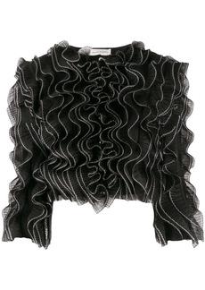 Alexander McQueen pleated ruffle jacket