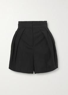 Alexander McQueen Pleated Wool-twill Shorts