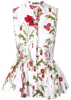 Alexander McQueen Poppyfield corset shirt